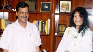 Irom Sharmila meets Arvind Kejriwal ahead of upcoming Manipur polls