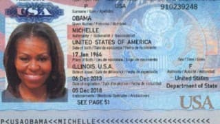 Michelle Obama's passport scan appears online in apparent hack