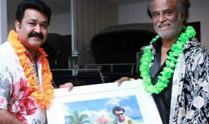 mohanlal and rajinikanth Oppam photo by Rajni FC