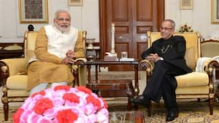 Narendra Modi meets Pranab Mukherjee to brief him on Uri developments