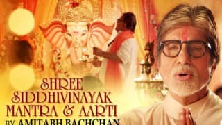 Listen to Amitabh Bachchan's soulful Shree Siddhivinayak Mantra & Aarti this Ganesh Festival 2016