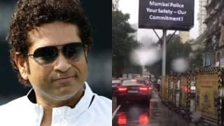 Sachin Tendulkar posts a special video message for Mumbai Police, praises their commitment