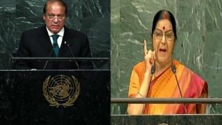 UN महासभा में सुषमा स्वराज ने पाकिस्तान को कड़े शब्दों में कहा कश्मीर का ख्वाब देखना बंद करें