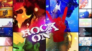 Rock On 2 poster with Farhan Akhtar, Arjun Rampal, Shraddha Kapoor, Shashank Arora is an enthralling mix of colors!