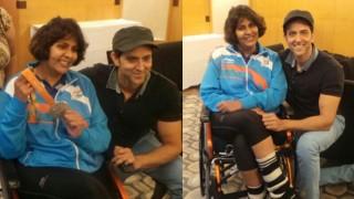 Indian Rio Paralympics medal winner Deepa Malik's starstruck moment with Kaabil star Hrithik Roshan!