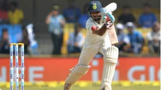 India vs New Zealand 3rd Test: After Cheteshwar Pujara's century hosts declare at 216/3, set Kiwis a target of 475
