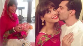 Bipasha Basu and Karan Singh Grover's first Karwa Chauth pictures will make you go lovey-dovey!