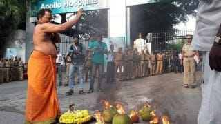 Jayalalithaa hospitalized: Supporters camp outside Apollo Hospitals praying for Amma's speedy recovery