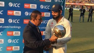 Watch Sunil Gavaskar handover Test mace to Indian captain Virat Kohli