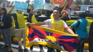 BRICS Summit 2016: Tibetan activists stage protest in Goa against China's illegal occupation of Tibet