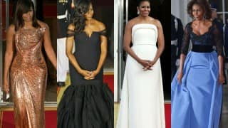 Michelle Obama In Versace For Final White House State Dinner: 8 Best Dresses Of First Lady Ever