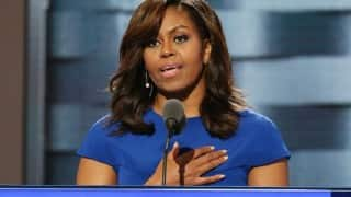 Michelle Obama urges girls to be 'hungry' for education