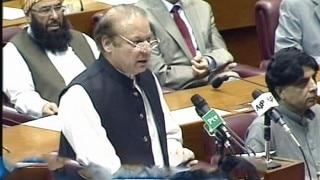Pakistan: Nawaz Sharif invokes Burhan Wani in Parliament speech; preaches peace in Kashmir!