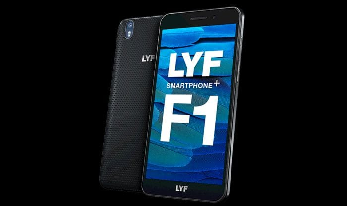Reliance Unveils Lyf F1 Smartphone At INR 13399