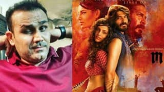 Virender Sehwag's Mirzya movie review: An incredible love story! Cricketer promotes Harshvardhan Kapoor and Saiyami Kher on Twitter