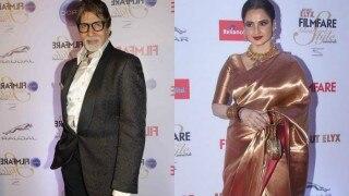 अमिताभ बच्चन को देख मीडिया के सामने हड़बड़ा गयी रेखा और..