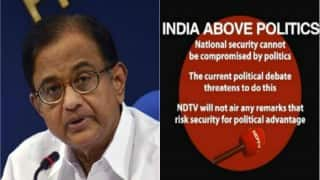 P Chidambaram interview on surgical strikes dropped by NDTV, citing national security