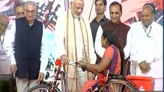 Divyang development: Narendra Modi hands out assistance devices to specially abled in Vadodara