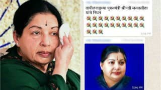 Jayalalithaa dead or alive? Rumour abuzz on Whatsapp despite denials by AIADMK leaders