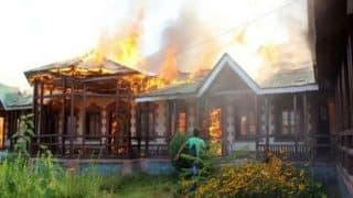 Yet another school building set on fire in Kashmir