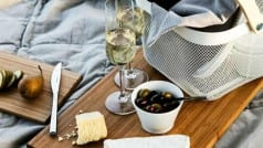 Grab a cheese cube to enhance taste of a glass of wine
