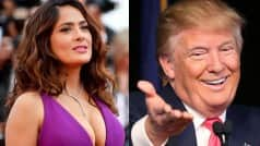 Shame! Donald Trump harasses Hollywood hottie Salma Hayek as she refuses to date him!