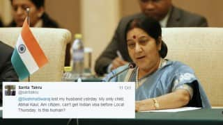 Sushma Swaraj got The Indian Embassy in US working on a holiday to help son reach India for father's funeral