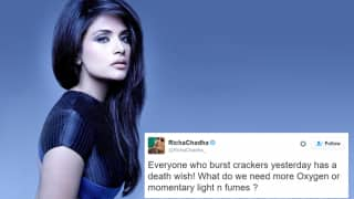 Richa Chadha gets trolled for her anti-crackers' tweet; Flawlessly shuts down the tweeps!