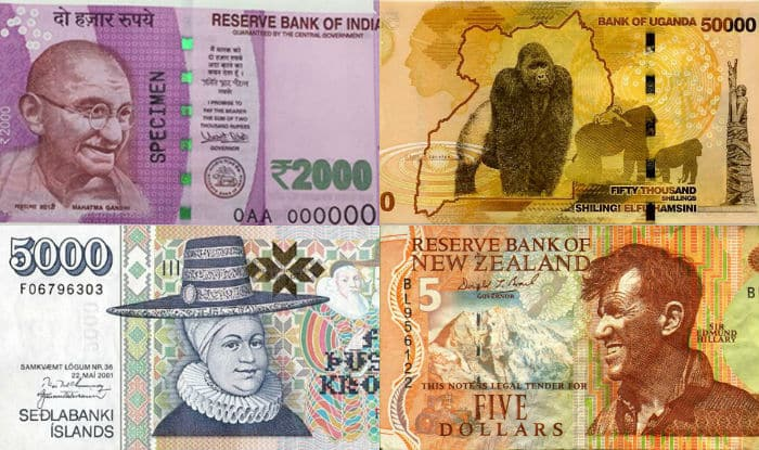 2000 rupees note currency around the world
