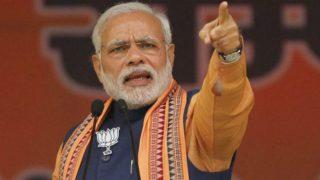 कुशीनगर रैली में पीएम नरेंद्र मोदी, पूछा- 'भ्रष्टाचार बंद हो या भारत'?