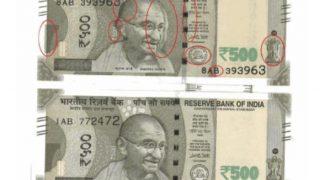 500 के नए नोट में सामने आई गड़बड़ी, असली-नकली की पहचान करने में लोगों को भ्रम