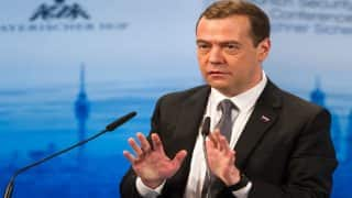 Israel minister in hot water after giving drone to Russian PM Dmitry Medvedev