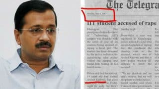 Arvind Kejriwal accused of RAPE during IIT days? Fake Telegraph newspaper clipping about Delhi CM goes viral on WhatsApp!
