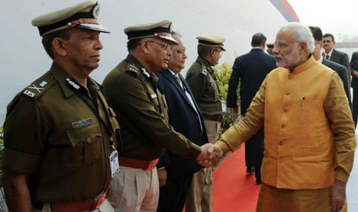 PM Modi offers tribute at martyr's column in National Police Academy