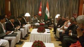 Pranab Mukherjee holds talks with Nepal president to boost ties