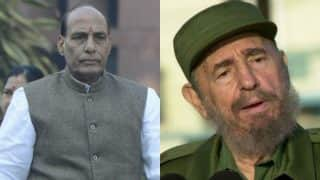 Rajnath Singh to lead Indian team at Fidel Castro's funeral