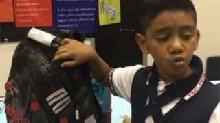 11-year-old Mexican boy designs bullet-proof backpack