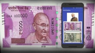 This app lets you scan Rs 2000 note and view PM Narendra Modi's message right on the note!