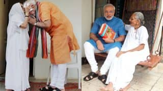 PM Narendra Modi with his mother Heeraben Modi: 11 cute pictures of this adorable son-mother pair will leave you with a big smile!