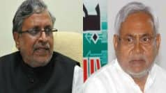 Sushil Modi asks Nitish Kumar to review ties with RJD,…