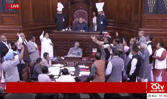 Opposition continue protest seeking Narendra Modi's presence in Rajya Sabha