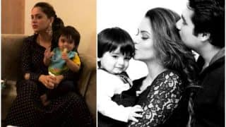 Awwdorable! Kahiin to Hoga actress Aamna Sharif holding baby Arain will get you all mushed up!