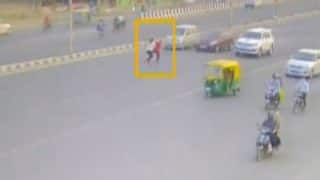 Caught on camera: Speeding car rams 63-year-old woman, granddaughter in Ahmedabad (Watch Video)