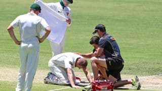 Adam Voges taken to hospital after being hit by bouncer in Sheffield Shield game