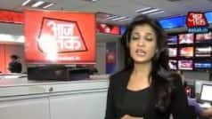Video of Aaj Tak news anchor Anjana Om Kashyap almost…