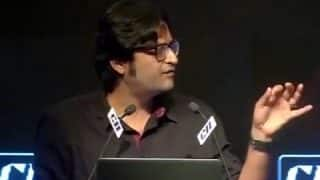 Arnab Goswami turns emotional during farewell speech at Times Now: 'Nobody can teach us independent media'