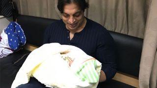 Shoaib Akhtar starts a new innings of Fatherhood