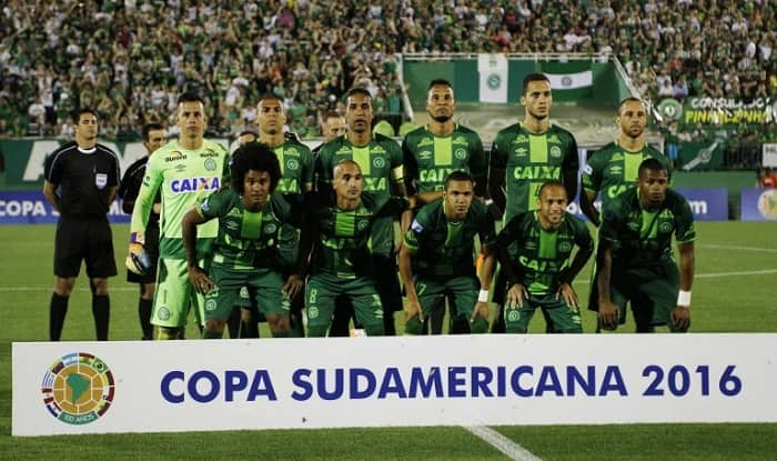 A recent picture of the Chapecoense football team