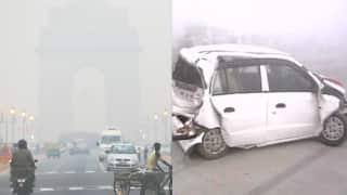 Dense smog causes 20 car pile up on Yamuna Expressway