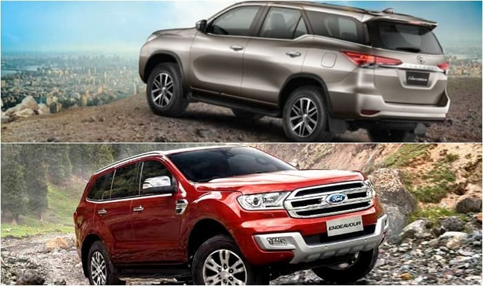 New Toyota Fortuner 2016 Vs Ford Endeavour Price Features